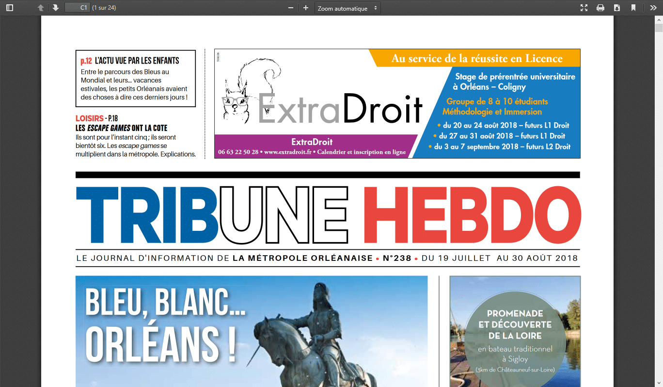 Tribune Hebdo ExtraDroit Soutien étudiants 2018-07-19